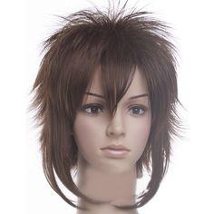 Stunning Okita Souji Grey Brown Cosplay Wig