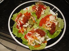 Raw Food Vegan Tacos        Equipment: Small or Large Food Processor, Vitamix or High powered blender.    Salad:    1 head of butter lettuce    1 cup cilantro    2 Organic Red or Yellow Bell Peppers    3 Organic Roma Tomatoes    1-2 cups of alf alfa sprouts