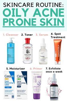 Skincare For Oily Skin, Moisturizer For Oily Skin, Oily Skin Care, Face Skin Care, Oily Skin Makeup, Neutrogena Skin Care, Tips For Oily Skin, Anti Aging Skin Care, Dry Skin