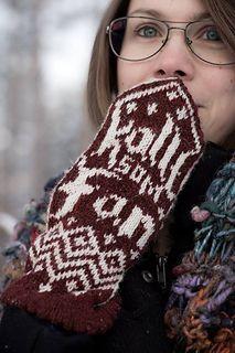 Kallt som Fan! Ett par mönsterstickade vantar med det lilla extra! Fair Isle Knitting, Knitted Gloves, Fan, Pattern, Model, Fans, Patterns, Pattern Print, Ravelry