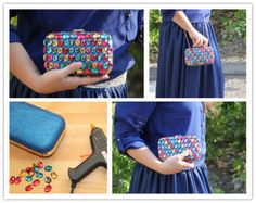 How to make pretty DIY jewelry clutch bag step by step tutorial instructions / How To Instructions