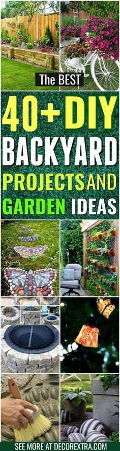 DIY Backyard Ideas http://decorextra.com/the-best-diy-backyard-projects-and-garden-ideas/ Backyard ideas on a budget #BestHomeUtilitiesTips