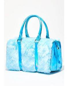 Free, fast shipping on Aqua Sugar Thrillz Shagadelic Purse at Dolls Kill, an online boutique for kawaii fashion. Shop Sugar Thrillz clothing, shoes, & accessories here. Fur Purse, Pink Faux Fur, Prom Heels, Purple Butterfly, Glass Slipper, Pink Bra, Cute Bags, Luxury Bags, Travel Bags