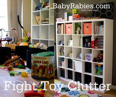 {10 Steps to Fighting Toy Clutter} How do you handle it at your house?