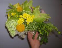 bruidsboeket - geel hangboeket falenopsis boechout