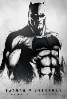 Awesome batman v superman fan poster. Batfleck looking bad ass