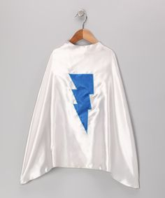 Another great find on #zulily! SuperflyKids Silver & Blue Lightning Cape by SuperflyKids #zulilyfinds