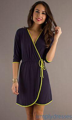 Tied Waist Short Casual Dress