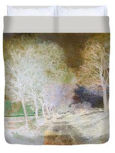 David Bridburg Duvet Cover featuring the digital art Inv Blend 4 Sisley by David Bridburg