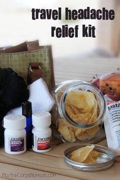 DIY Travel Headache Relief Kit | Marine Corps Nomads #MoreMomentsWithExcedrin #ad
