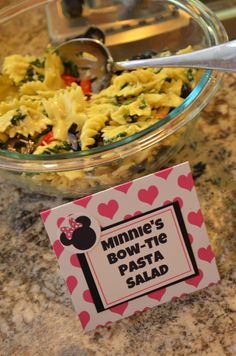 Minnie Mouse Birthday Party - Food Signs