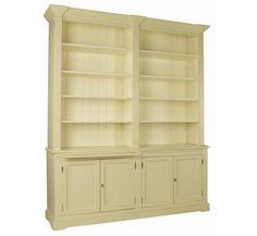 Boekenkast landelijke stijl H 240 cm x B 210 cm x D 50 cm - Inndoors Meubelen en Interieur