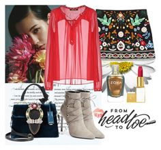 """Head to Toe"" by raincheck ❤ liked on Polyvore featuring Roberto Cavalli, Yves Saint Laurent, Miu Miu, Tom Ford and Zoya"