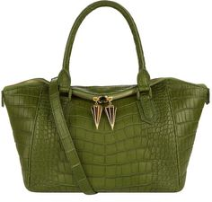 Ethan K The Kite Edge Crocodile Handbag