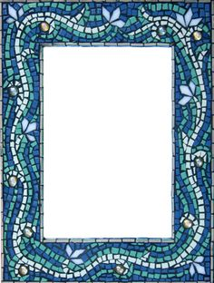 mosaic mirror - the white really shows the beauty of the cutting and andamento
