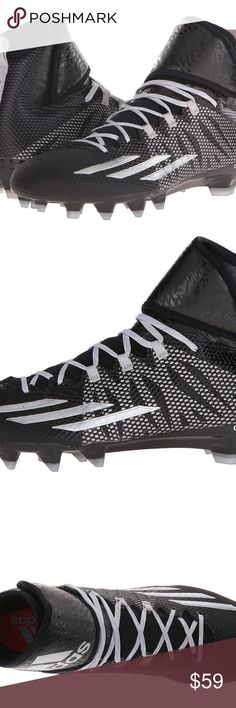 NEW ADIDAS MEN S DUAL THREAT FOOTBALL CLEATS Adidas DUAL THREAT MID TECH FIT  FOOTBALL CLEATS WITH b8a2cafb2