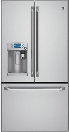 OMG A refrigerator that brews your morning coffee...now if only it could open its own door and add the creamer....
