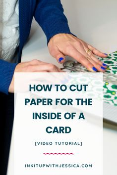 Learn how to cut paper for the inside of a card easily with this short and sweet card making video tutorial! Card Making Ideas For Beginners, Card Making Tips, Card Tricks, Card Making Tutorials, Card Making Techniques, Card Making Inspiration, Paper Cutting, Cut Paper, Card Making Templates