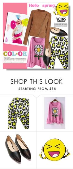 """""""Yoins Jacket"""" by ladybug-100 ❤ liked on Polyvore featuring Just Cavalli, Garance Doré and yoins"""