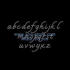 Popular Wholesale  Lower Case Letters A To Z Letters Iron On