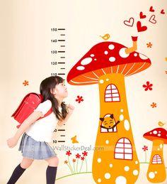 Mushroom  Garden Kid Wall Sticker