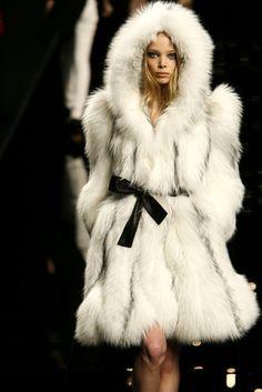 White Fur Vogue Fashion-I want!  HaHa!