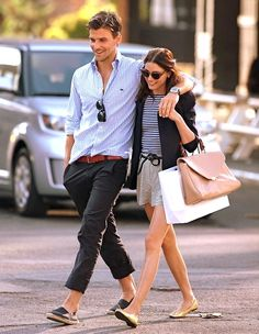 there we go. menswear. men's fashion. olivia palermo & fiance johannes huebl.