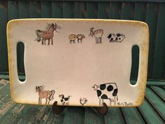 Cow Decor and Cow Collectibles by Molly Dallas - Cow and Farm Animal Serving Platter- Serving Dish by MollyDallasCo on Etsy