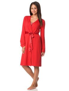 Long Sleeve Scoop Neck Smocked Nursing Nightgown And Robe