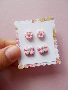 Flower Earrings Butterfly earrings Flower jewelry Cute
