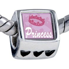 Pugster Bead Pink Princess Tiara Beads Fits Pandora Bracelet Pugster. $12.49. Hole size is approximately 4.8 to 5mm. Fit Pandora, Biagi, and Chamilia Charm Bead Bracelets. Unthreaded European story bracelet design. It's the photo on the heart charm. Bracelet sold separately
