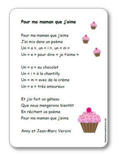 Song For my mom whom I love by Anny and Jean-Marc Versini - Illustrated lyrics - Nursery rhyme For my mom whom I love from Versini Mother Poems, Mothers Day Poems, Mothers Day Crafts, Mother And Father, Fathers Day, Diy For Kids, Crafts For Kids, French Poems, Love Mom