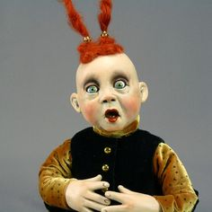 another favourite art doll artist - Chomick Meder.  I am very pleased that I have one of their dolls from a conference.