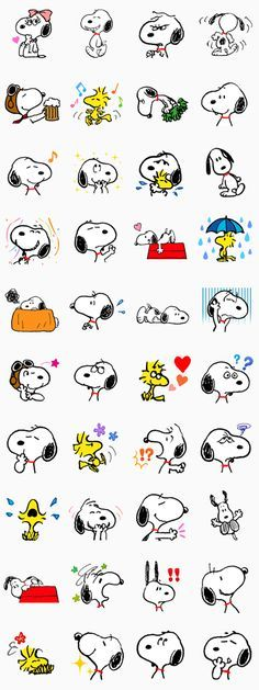 Snoopy, loved by the world over, is now on LINE! Showing all sorts of emotions, these stickers are sure to put a smile on everyone's face!