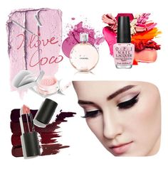 Pink Addict♡ by stellamaria21 on Polyvore featuring polyvore beauty Serge Lutens Sigma Beauty Chanel OPI Christian Dior