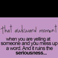 Awkward.....