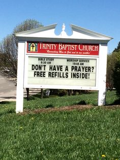 Trinity Baptist Church  Christiansburg, Va Church Sign