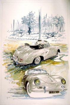 An Artists impression of a Porsche 356 Roadster. Well Done