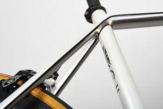 Donhou Bike. Pearl white paint/ brazed stainless underneath