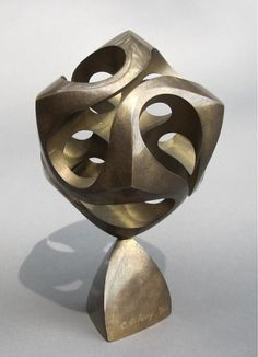 Vintage Original Charles Perry Brass Cassini Abstract Geometry Sculpture 80 1000 | eBay