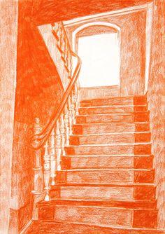Evil House: Monochrome Drawings by Morten Schelde Monochrome, Arte Sketchbook, Orange Art, Environment Concept Art, Illustrations Posters, Art Inspo, Book Art, Art Drawings, Illustration Art