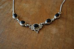 Vintage Handmade Sterling Silver and Onyx by LeeLynnsMenagerie, $50.00