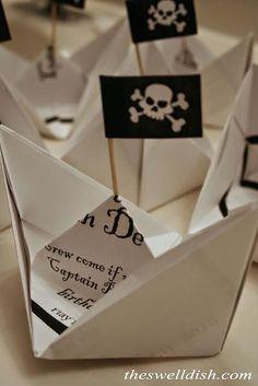 Invitation anniversaire bateau pirate