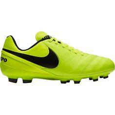 Nike Kids' Tiempo Legend VI FG Soccer Cleats, Boy's, Volt/Black