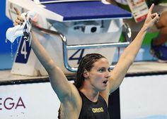 Katinka Hosszu of Hungary celebrates after winning the women s 400m Medley  final of the Rio 2016 a756c62eca