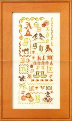 Halloween Alphabet is the title of this Halloween Cross Stitch pattern from JBW Designs that is stitched with Classic Colorworks (Bean Sprou...