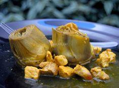 Alcachofas a la Montillana Garlic, Favorite Recipes, Vegetables, Gastronomia, Artichoke, Salads, Olive Oil, Entrees, Homemade
