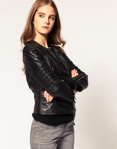 Biker jacket: wardrobe staple. Goes with everything!