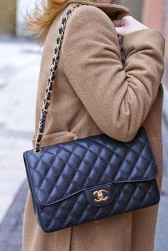 chanel 255 classic flap bag in caviar leather on fashion blogger vale on fashion and cookies