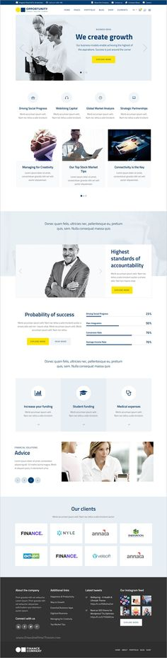 Opportunity is a professionally design responsive #WordPress theme for #webdesign consulting #company and finance business websites with 9 niche homepage layouts download now➩   https://themeforest.net/item/opportunity-a-corporate-business-wp-theme/13567040?ref=Datasata